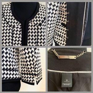 White House Black Market Jackets & Coats - JACKET WHITE HOUSE BLACK MARKET HOUNDSTOOTH Sz 10